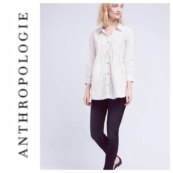 Anthropologie Tops - Anthropologie Poplin button down blouse